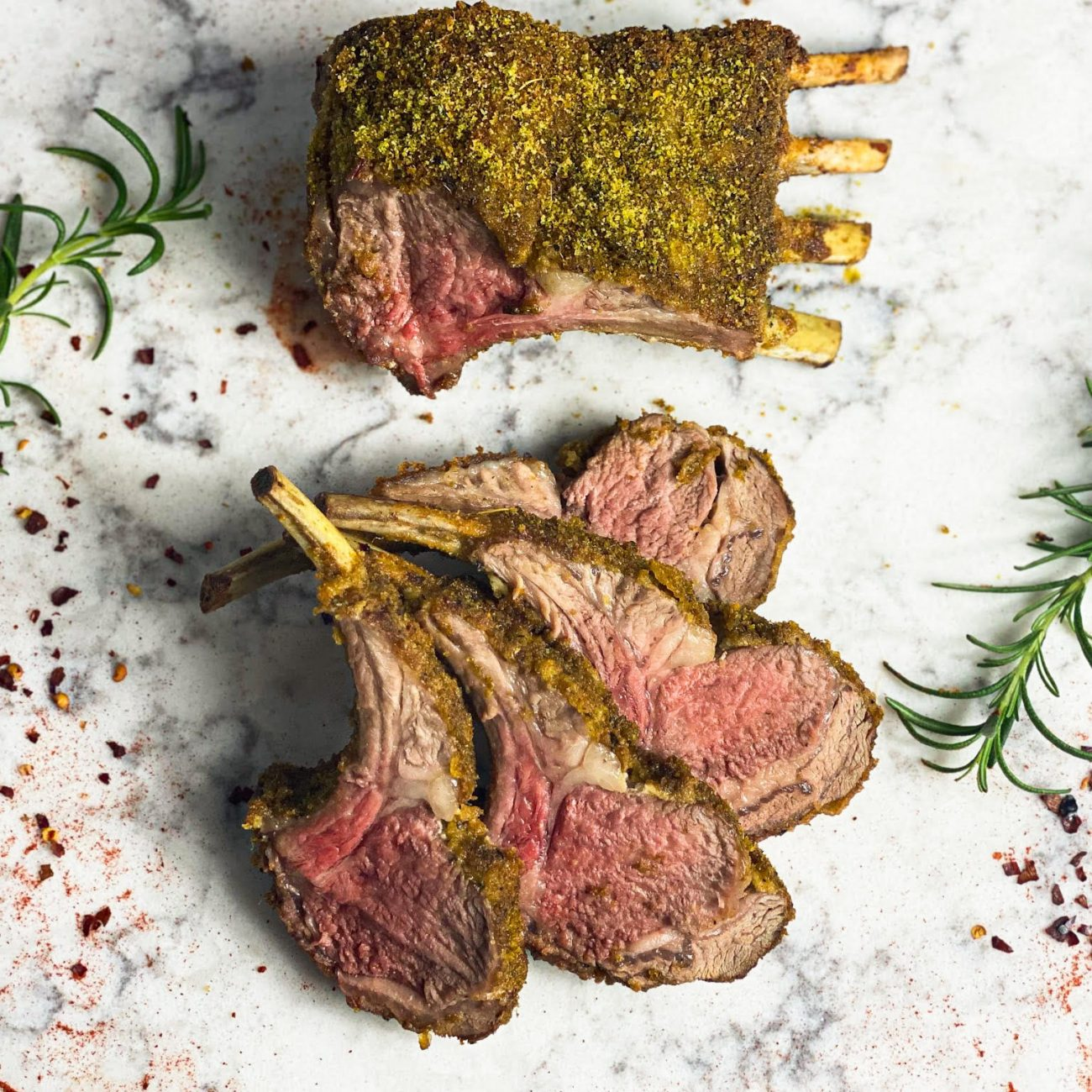 Step-By-Step Roasted Rack of Lamb with Herb Crust