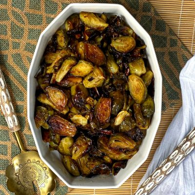 Honey Truffle Brussels Sprouts