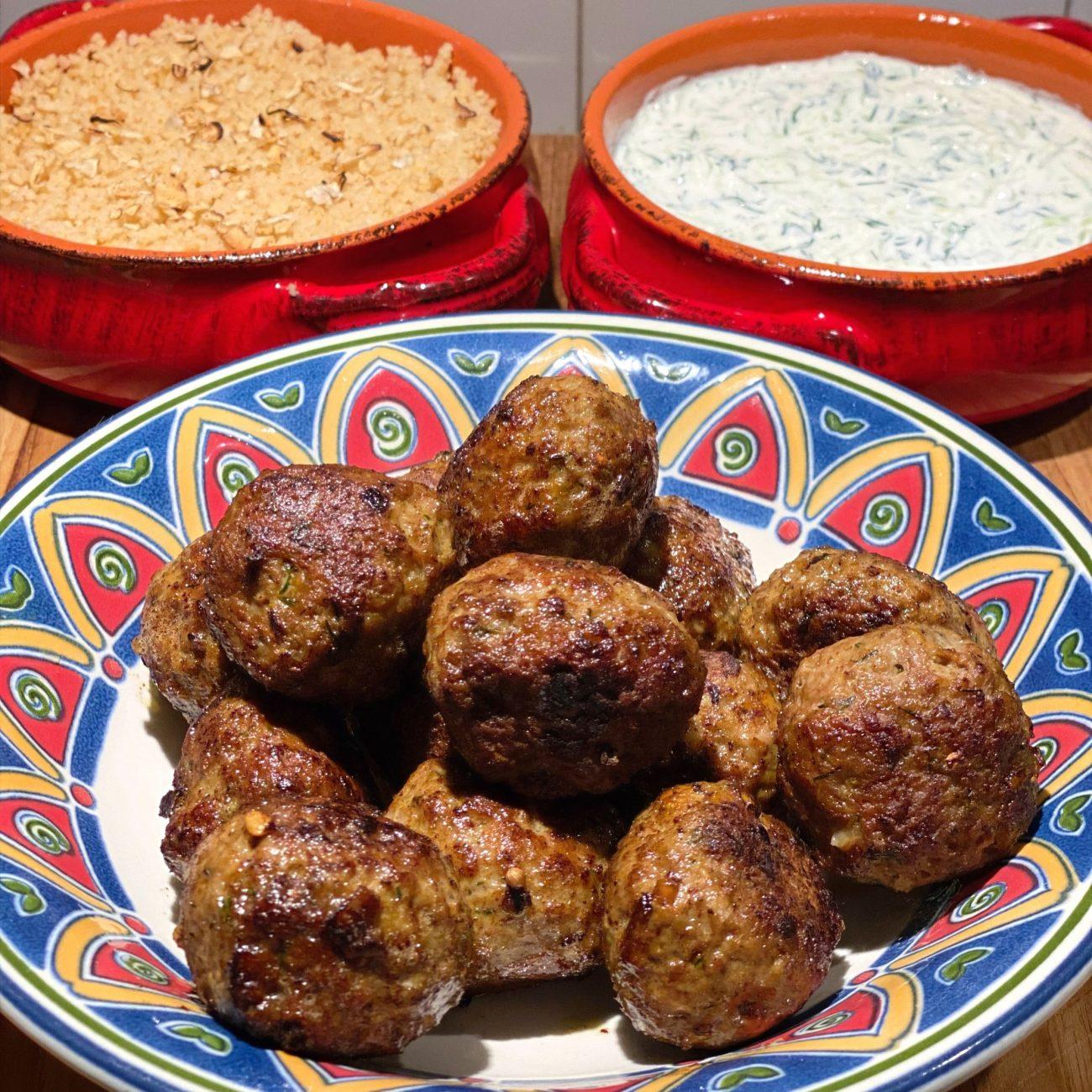 Moroccan style Lamb Meatballs