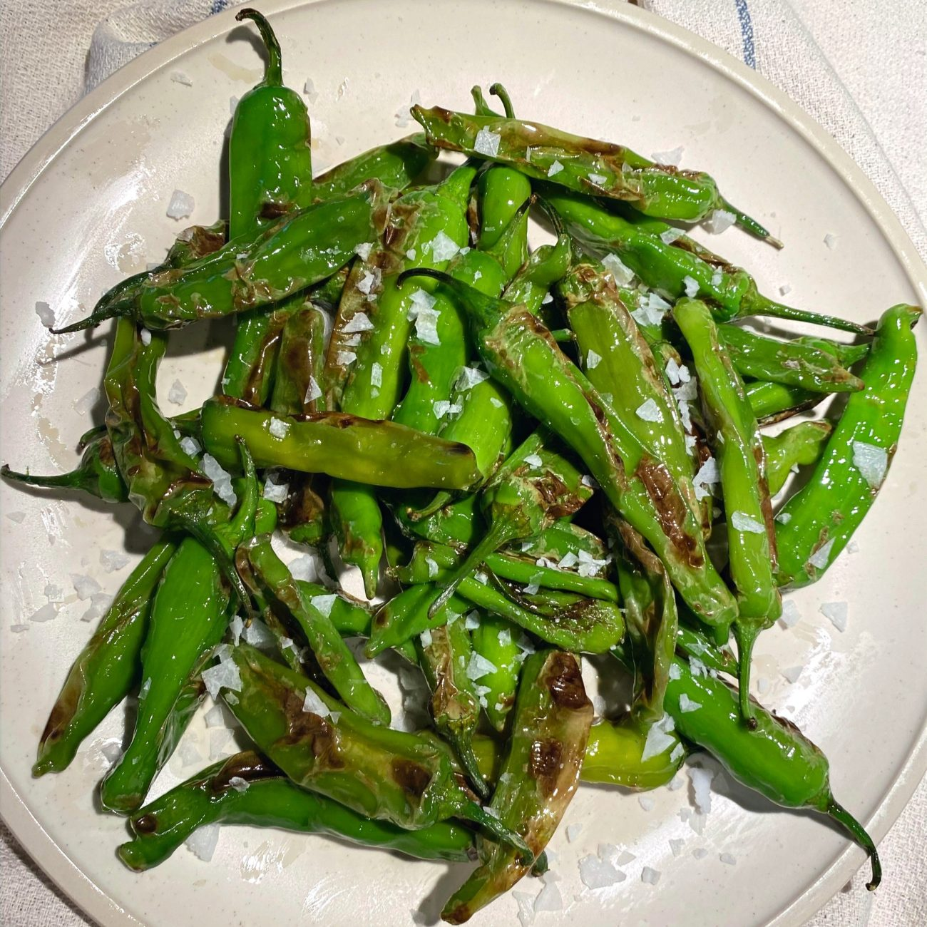 """Blistered shishito peppers – """"Pimientos de Padrón"""""""